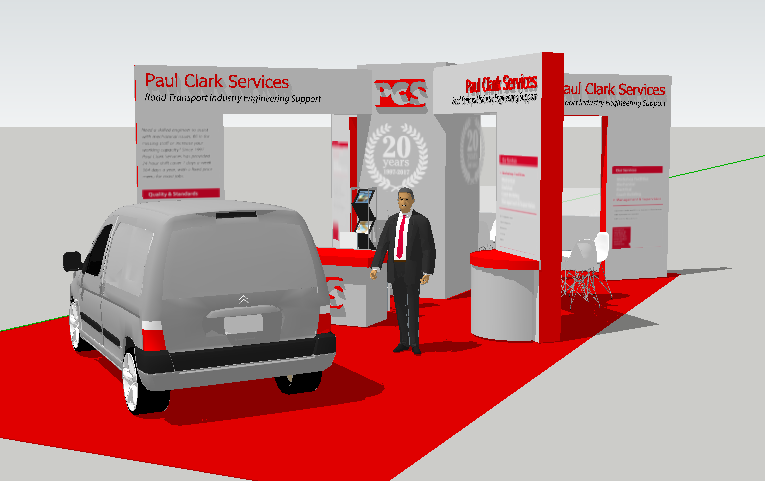 PCS exhibition stand design