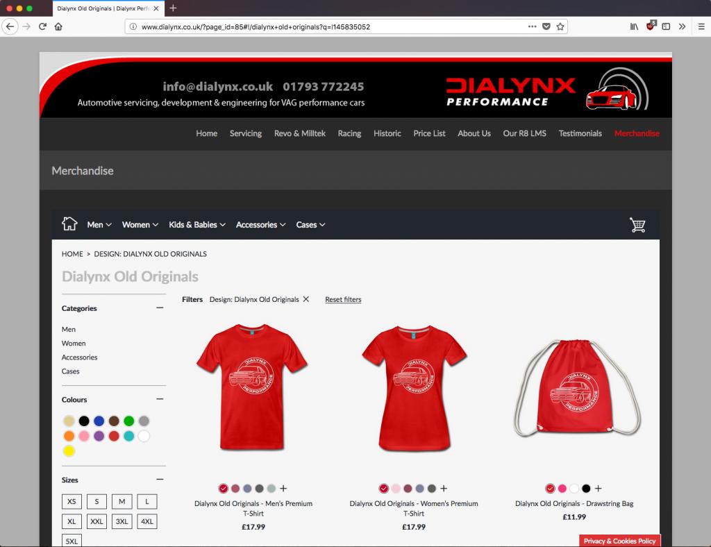 Dialynx online merchandise shop